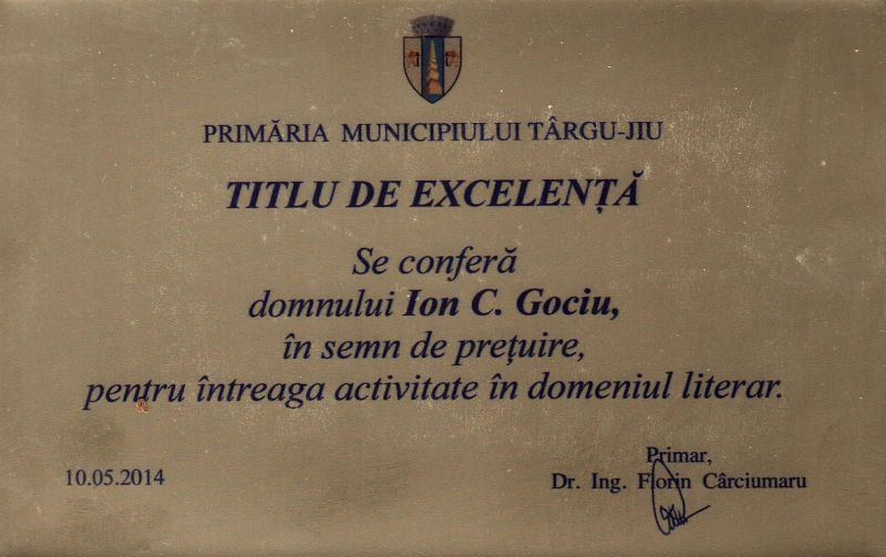 TITLU DE EXCELENTA