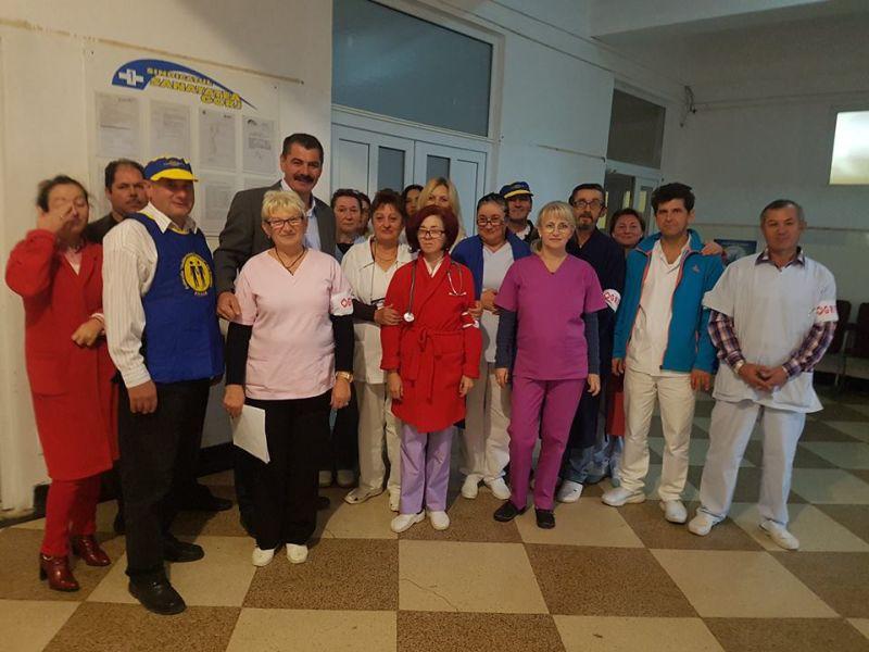 foto protest spital Dobrita